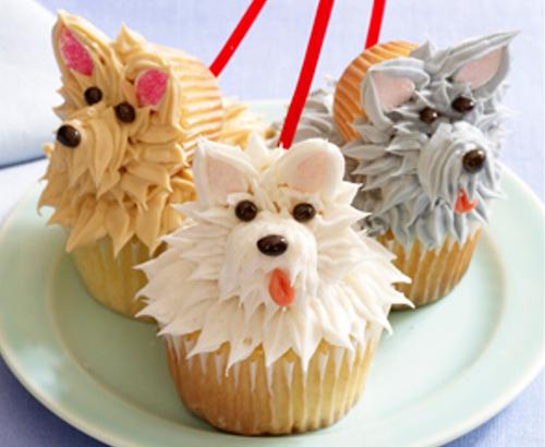 動物の噂・裏技・裏話_芸術的な犬のカップケーキ