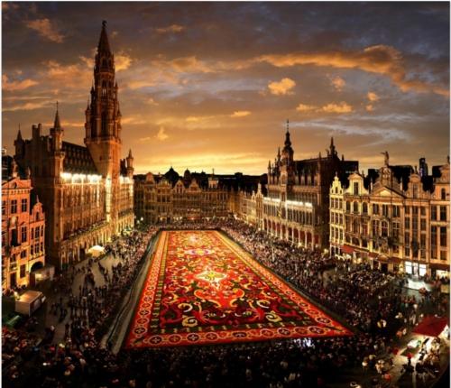 海外の噂・裏技・裏話_ベルギーの首都ブリュッセルで開催されるフラワーカーペット