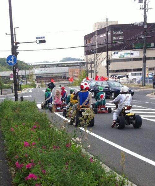 漫画・アニメ・キャラクターの噂・裏技・裏話_奈良県でリアルなマリオカートが発見された