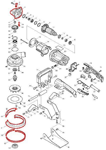 マキタ コンクリートカンナPC5001C展開図