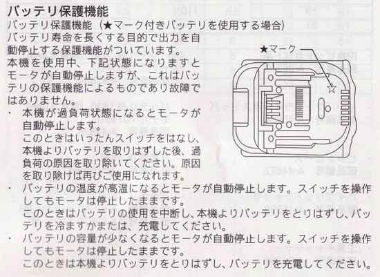 マキタ ★マーク解説