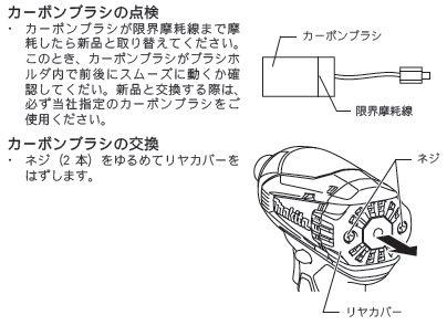 マキタ カーボンブラシCB440