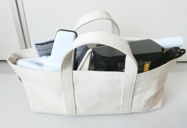 マキタ 18V充電式クリーナーCL182FDRFW用帆布バッグ