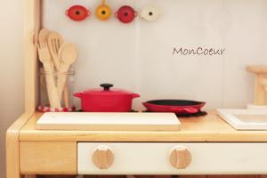ハンドメイドのおままごとキッチン