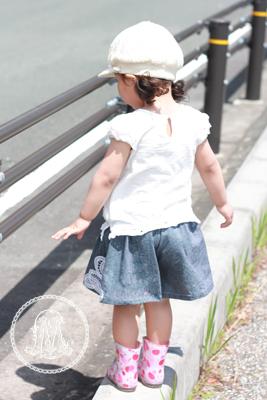 まいにち着る女の子服 ギャザーキュロット