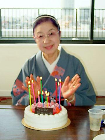 綾秦 節 76歳の誕生日