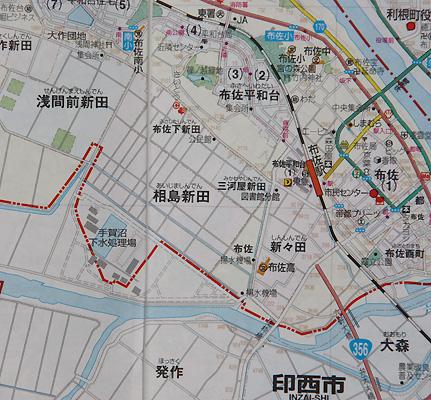 相島新田地図