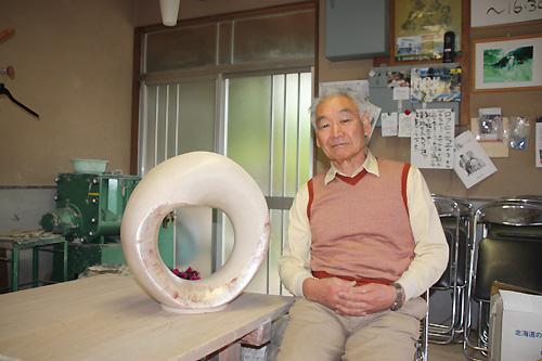 羽二生先生と作品「輪廻転生」