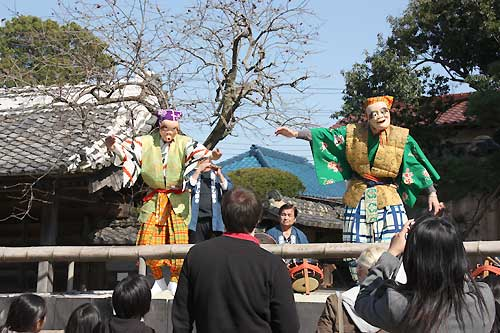 WCI 相島芸術文化村でのお囃子見学