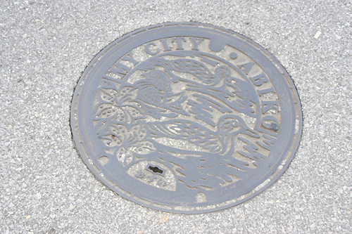 下水マンホールの蓋