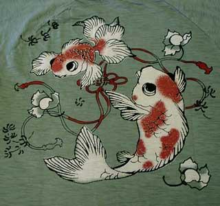 ちきりやTシャツ「鬼灯金魚」