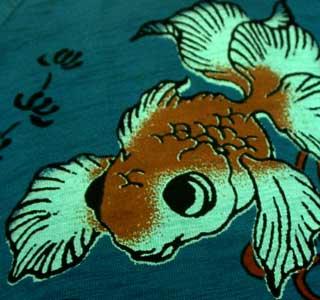 ちきりやのTシャツ鬼灯金魚