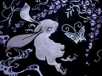 ちきりや刺繍ジャージ「うさぎ藤」
