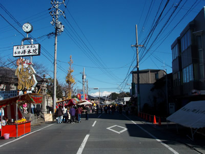 秋葉山大祭よく晴れています。