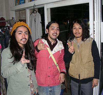 静岡の古着屋フラミンゴのロンゲ三人衆