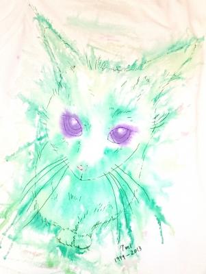 グリーンの世界で一番可愛いシロネコ七味ちゃん