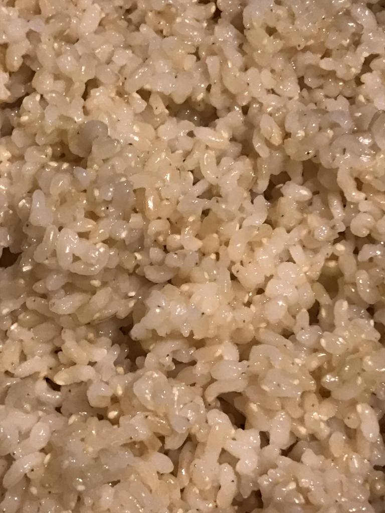 温浸水6時間玄米の炊きあがり
