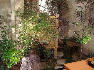 室内からのお庭