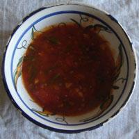 アスパラガスのトマトソース