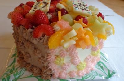 はーふにしたケーキ