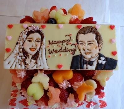 ウェディングのケーキ