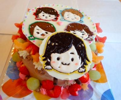 あらしのイラストケーキ2