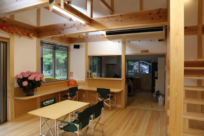 飛雪の滝キャンプ場、管理棟内部