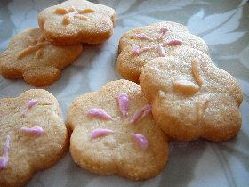 きんちゃく&桃の花クッキー