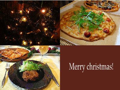 クリスマスはPIZZAの我が家・・・・☆