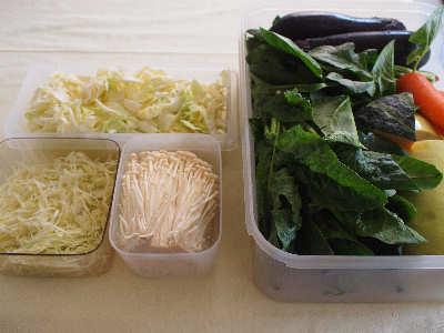 野菜は洗って入れておくと便利