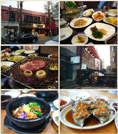 韓国料理も色々食べました!