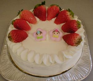 ひな祭りケーキ藤重