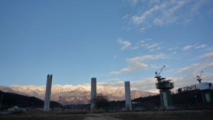 2011新春の中央アルプスを望む