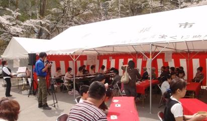 大沼湖畔桜祭り1