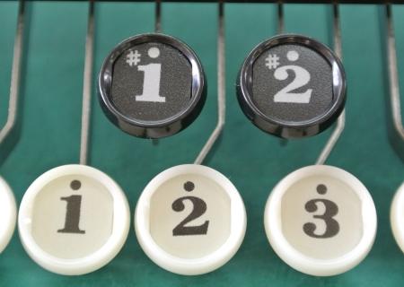 文字の消えないキーボタン