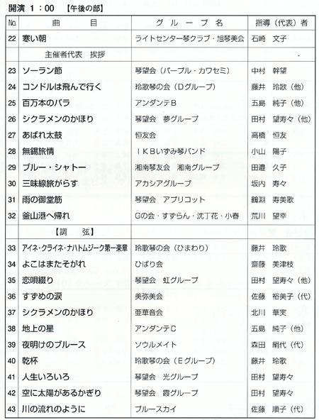 琴伝流大正琴第28回神奈川県大会プログラム2