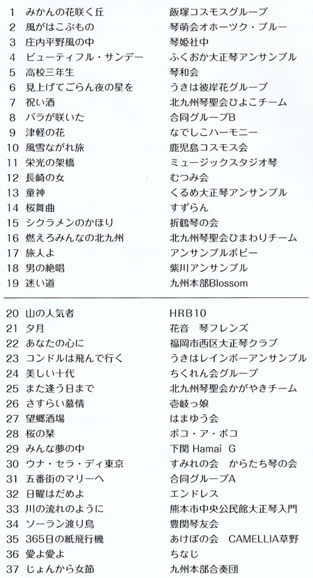 琴伝流大正琴第28回福岡県大会プログラム