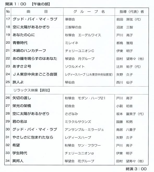 琴伝流大正琴第32回東京大会プログラム2