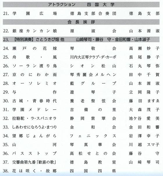 琴伝流大正琴第20回徳島県大会プログラム2