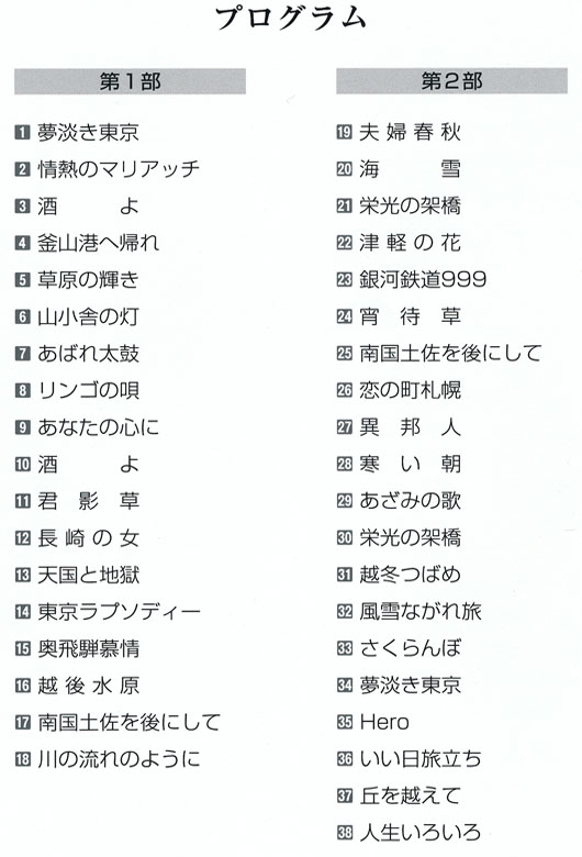 琴伝流大正琴第39回長野県大会プログラム