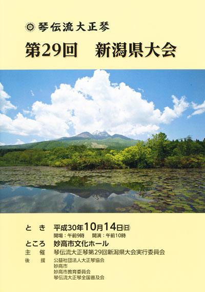 琴伝流大正琴第29回新潟県大会プログラム表紙