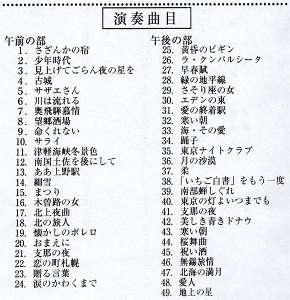 琴伝流大正琴第35回埼玉県西部地区大会プログラム