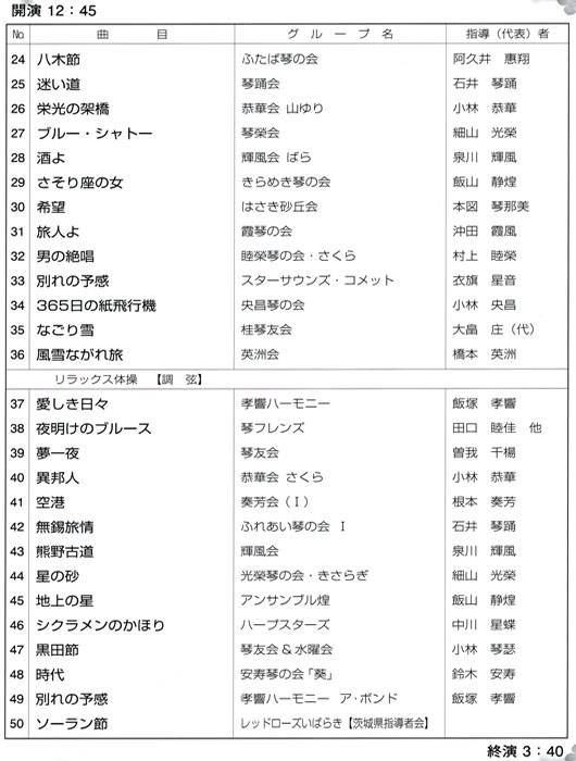 琴伝流大正琴第25回茨城県大会プログラム2