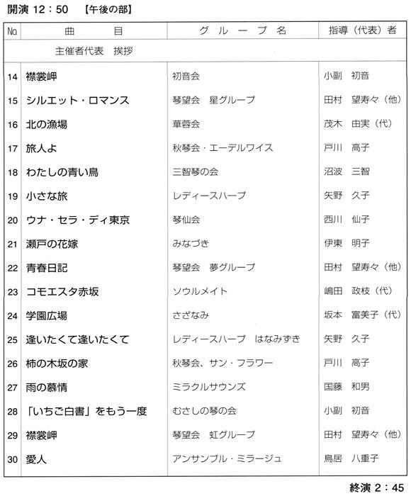琴伝流大正琴第33回東京大会プログラム2