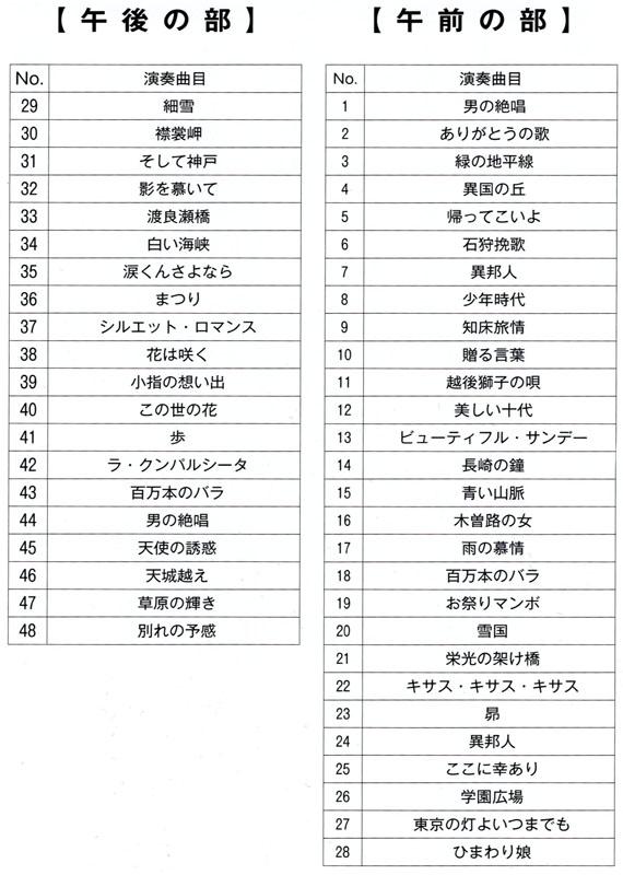 琴伝流大正琴第20回栃木県大会プログラム