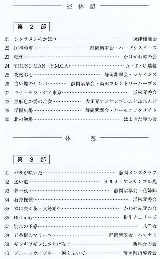 琴伝流大正琴第30回静岡県大会プログラム2