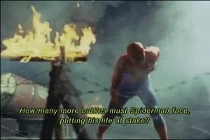 傷つくスパイダーマン