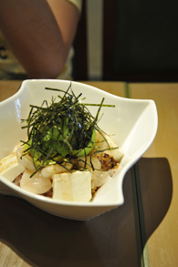 豆腐と海鮮のアボガド丼