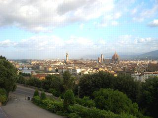 ミケランジェロ広場から見たフィレンツェの街並み