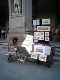 フィレンツェの絵描きさん